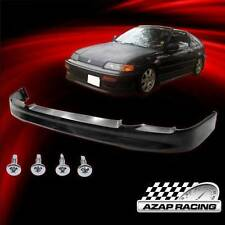 90 91 CS Style Poly Urethane Front Bumper Lip Spoiler For Honda CRX Coupe 2Dr