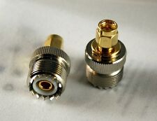 SO239 UHF female jack to SMA plug male RF connector; Fast Shipping; US Seller