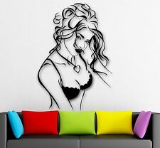 Wall Stickers Vinyl Decal Hot Sexy Woman Lingerie Beautiful Girl Tits (ig1811)