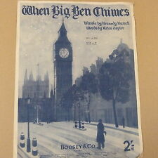 songsheet WHEN BIG BEN CHIMES in F, Kennedy Russell 1941