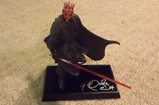 Star Wars Gentle Giant Autographed Darth Maul / Ray Park Statue   ORIGINAL
