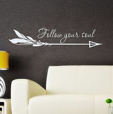 Arrow Vinyl Wall Decal Boho Arrow Sticker Quote Bedroom Bohemian Decor FD124