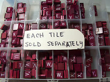 UPICK single maroon SCRABBLE TILES REPLACE LOST TILES SOLD Separately burgundy