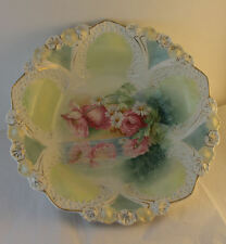 Antique R. S. RS Prussia Bowl Honeycomb Mold