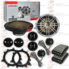 "NEW POLK AUDIO DB6501 6.5"" 6-1/2"" CAR BOAT MARINE AUDIO 2-WAY COMPONENT SPEAKERS"