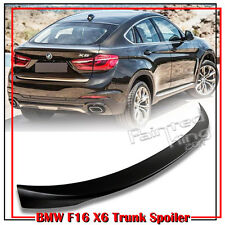 Unpainted ABS BMW F16 F86 X6 SUV Performance Style Rear Trunk Spoiler Wing 2016