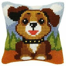 "Dog Puppy Cushion Cover 10"" x 10"" Cross Stitch Kit"