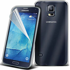 Ultra Thin Clear TPU Gel Skin Case Cover & LCD Film For Samsung Galaxy S5 Neo