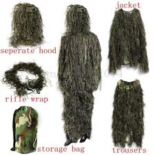 Tactical Military Hunting Sniper Woodland Camo Camouflage Ghillie Full Body Suit