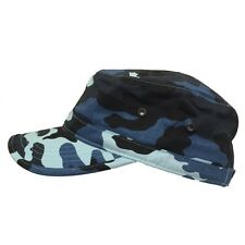 Blue Camo Camouflage Cotton GI Cadet Military Army Style Castro Patrol Hat Cap