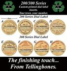 GPO 200 300 SERIES TELEPHONE DIAL LABEL INSERTS YOUR TOWN and NUMBER ART DECO BT