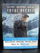 Total Recall Blu-Ray DVD Steelbook Theatrical + Extended Cut Sealed Sci-Fi