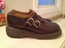 Dr. Martens unisex Mary Jane style brown leather Oxford shoes 6 unisex size