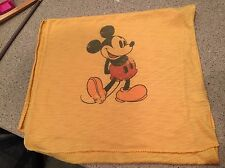 Disney Parks Mickey Mouse T-shirt Scarf Shawl Orange Yellow Vintage Style Print