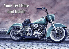 PERSONALISED CLASSIC HARLEY DAVIDSON MOTOR CYCLE BIRTHDAY ANY OCCASION CARD