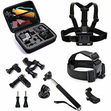 Accessory Kits Case Bag Head Chest Harness Mount Monopod f GoPro 2 3 3+ 4 SJ4000