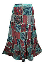 HIPPIE BOHO GYPSY MAXI SKIRT VINTAGE STYLE  PATCHWORK PEASANT LONG SKIRTS