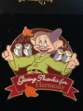 Disney Auctions Snow White Seven Dwarfs Giving Thanks Dopey Harmony Pin LE 100