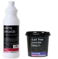 Salon Services Hair Creme Peroxide 7.5% 25 VOL 1 Litre With Blue Powder Bleach