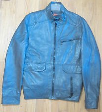 Hugo Boss - Orange Label - Gray Lamb Leather Jacket - Size 40 R