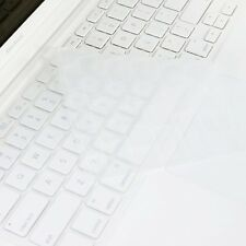 CLEAR Silicone Keyboard Cover for Macbook White 13""