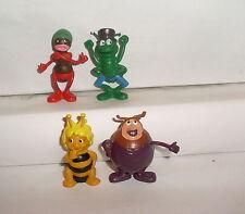 4 Figuren aus Biene Maja Flip Käfer Kurt Ameise Emsig Schleich 1976 PVC 5/7 cm