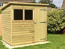 TANALISED PRESSURE TREATED PENT SHED 6x4 **BEST ON EBAY**