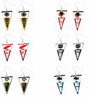pennant earring dangle NHL Pick your team