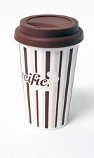 Taza de café de plástico, reutilizable, Taza de viaje, giro en la tapa, 360ML CC700