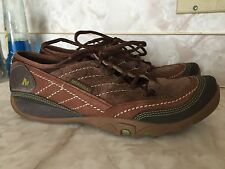 "MERRELL ""MIMOSA LACE COCOA"" women 7.5 38 brown leather sneaker shoe Lightly worn"