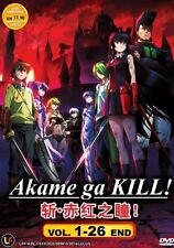 DVD Anime New Akame Ga Kill ! Complete Vol.1-26 End Region Free Free Shipping