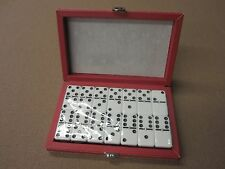 Deluxe Double Six Professional Dominoes w/ Black & Red Case w/ FREE Shipping