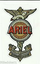 ARIEL MOTORCYCLE DECAL STICKER WORKSHOP GAS STATION BSA HARLEY DAVIDSON VINCENT