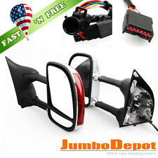 For 1999-2007 Ford F250 Super Duty Chrome Towing Power Mirrors LED Signal Heated
