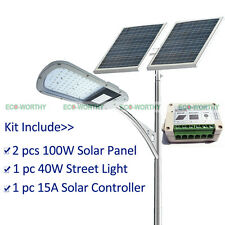 Small Lighting System Kit:40W LED Street Light+2*100W Solar Panel+15A Controller