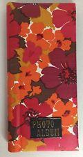 Vintage Flower Power Photo Album Retro Mod Hippie Picture Scrapbook Pink Orange