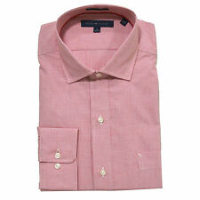 Tommy Hilfiger Mens Dress Shirt Regular Fit Button Up Spread & Point Collars New