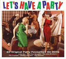 LET'S HAVE A PARTY - 60 ORIGINAL PARTY FAVOURITES - VARIOUS ARTISTS (NEW 3CD)