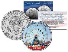 CONEY ISLAND WONDER WHEEL Brooklyn NY Colorized JFK Kennedy Half Dollar US Coin