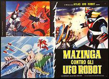 CINEMA-fotobusta MAZINGA CONTRO GLI UFO ROBOT - animaz. HIDEKI E TOSHIO - MORI