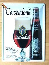Cadre enseigne bar bistrot Plaque  Bière CORSENDONK PATER embouti 30/40cm