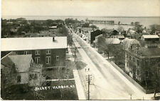 RPPC NY Sackets Harbor View from the Tower West Down Main St