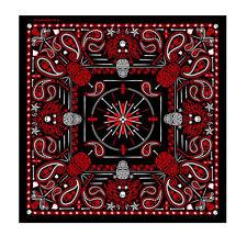 Rockabilly Paisley Skull Totenkopf Pinstripe Red Bandana Tuch Kopftuch Halstuch