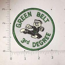 Green Belt 3rd Degree Patch