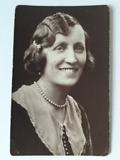 Vintage Postcard Photograph - Real Person -  Lady Named NEFROM? - Gateshead