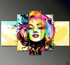 OIL PAINTING MODERN ABSTRACT WALL DECOR ART CANVAS,Marilyn Monroe 5pc(Unframed)