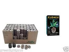 SOIL JIFFY 24mm x 43mm PROPAGATION BLOCKS x 10 & CLONEX 50ml FREE GLOVES