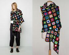 ** COMME DES GARCONS ** Floral Crochet Blanket Stole Wrap Scarf