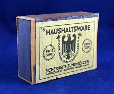 GERMAN WWII WEHRMACHT BOX / CASE OF MATCHES HAUSHALTSWARE ORIGINAL WAR RELIC