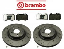 Mercedes W211 E500 Base 03-06 Front Disc Brake Rotor & Pads Kit Brembo / Pagid